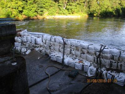 Flexibox Wasserbau Big-Bags Stauhöhe 4m