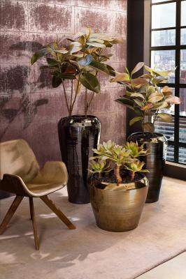 PADU planters with artificial plants