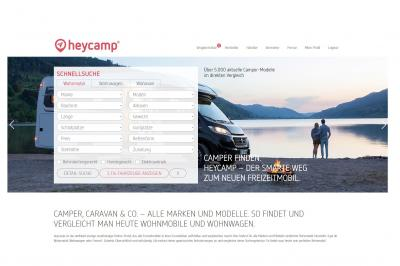 Homepage www.heycamp.de